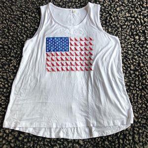 🍉 Cato American flag tank top dog print 14/16